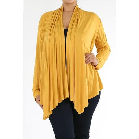 f54f83bfb73 NMC - Women's PLUS trendy style , long sleeves solid cardigan. - Walmart.com