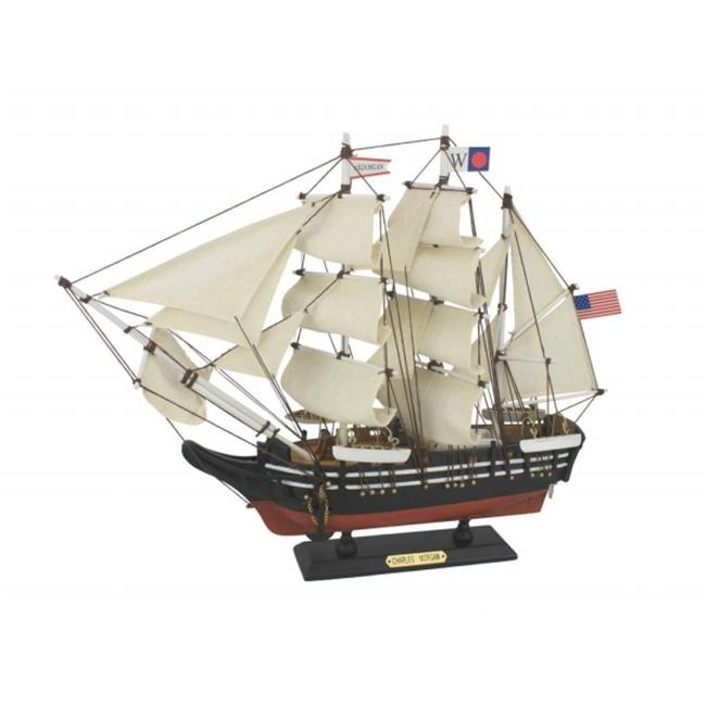 Handcrafted Model Ships Charles-Morgan-15 15 in. Wooden Charles W. Morgan Model Whaling Boat