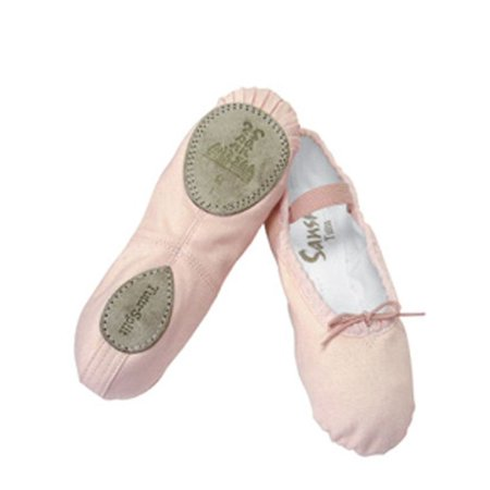 Gazelle 2 Leather Shoe (Sansha Pink Ballet Split Leather Sole Ballet Shoes Little Girls)