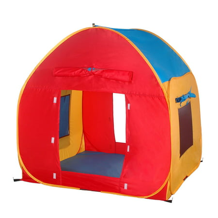 GigaTent 48 x 48 House Play Tent Mesh Windows Roll-Up Doors Easy Set Up