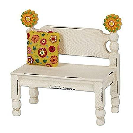 Miniature Fairy Garden Flower Post Bench](Flower Magnets)