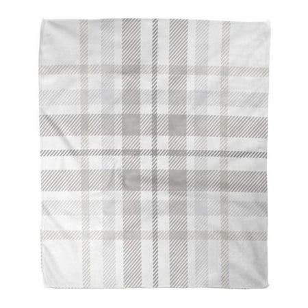 POGLIP Flannel Throw Blanket Gray Check Plaid Pattern Printing Pattern Checkered Geometric Tartan Abstract 58x80 Inch Lightweight Cozy Plush Fluffy Warm Fuzzy Soft - image 4 de 4