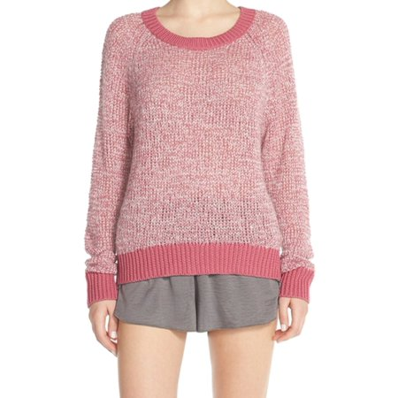 Make   Model Nordstrom New Pink Womens Size Medium M Crewneck Sweater