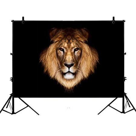 Background Face (GCKG 7x5ft Big face Lion Polyester Photography Backdrop Studio Photo Props)