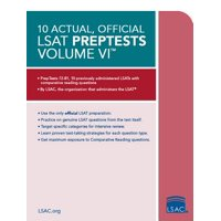 10 Actual, Official LSAT Preptests Volume VI : (preptests 72-81)