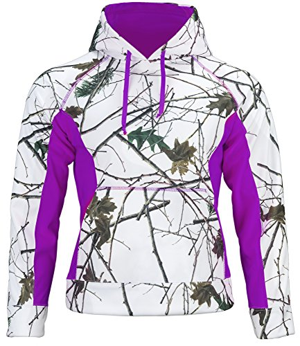Trail Crest Women's Snow Camo Soft Shell Hooded Jacket W/...