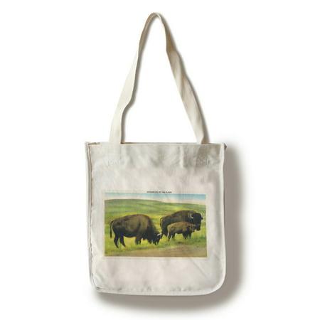 South Dakota   View Of Buffalo  Monarchs Of The Plains  100  Cotton Tote Bag   Reusable