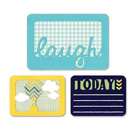 Thinlits Dies, Laugh Today, 3-Pack, Create dazzling detailed shapes for more creative cardmaking and papercrafting projects By Sizzix