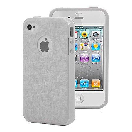 Apple iPhone 4S 4 Case - Wydan Lightweight Hybrid Slim Shock Absorbant Phone Cover Frost
