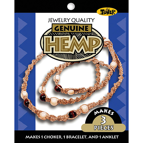 Toner Hemp Jewelry Kit, Wood Bead
