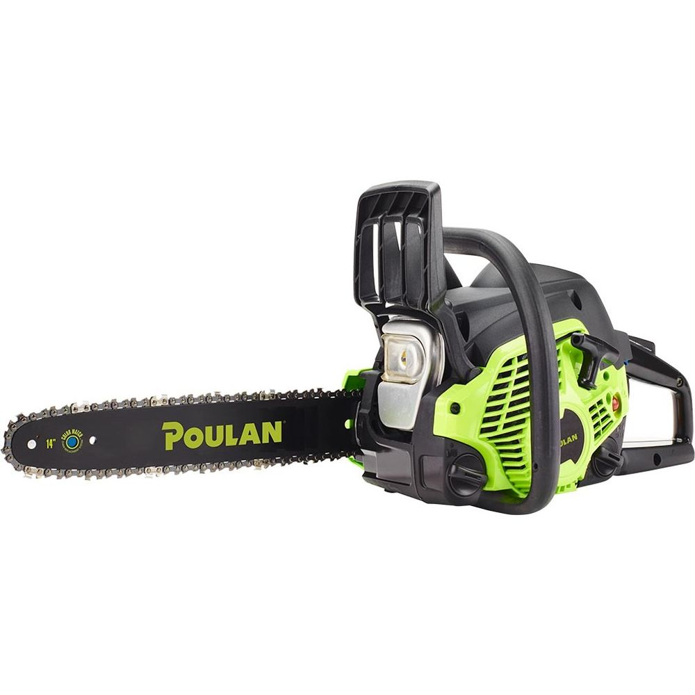 "Poulan 14"" Steel Bar 33CC Gas Chainsaw 2 Cycle, PL3314, Factory Reconditioned by Poulan"