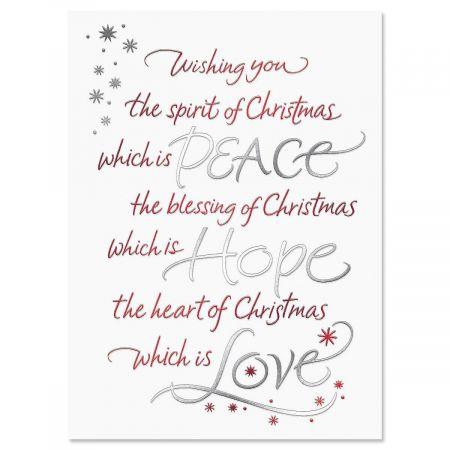Christmas Wish Christmas Cards - Set of 14