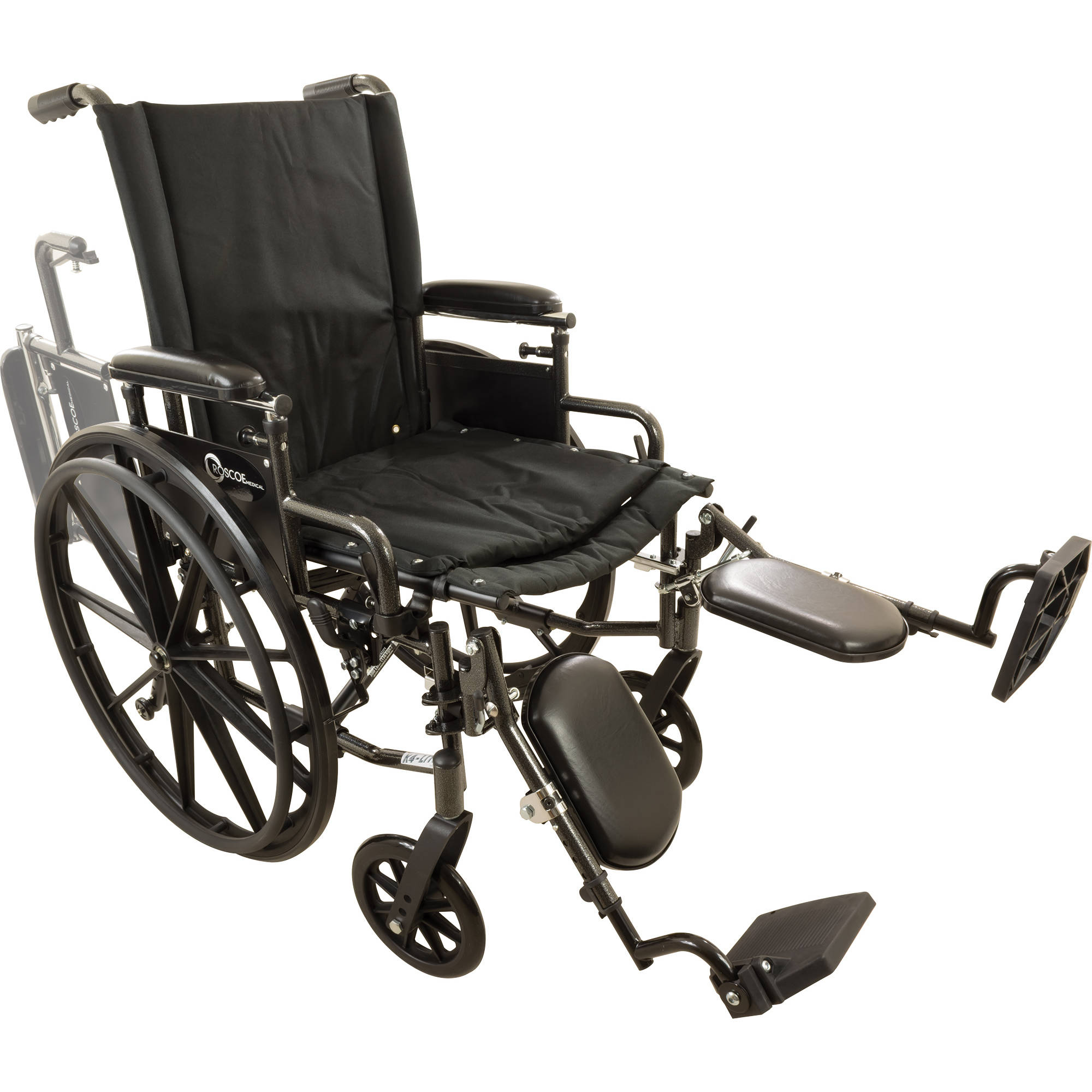 "Roscoe Onyx K4 Wheelchair, 18"" with Elevating Legrests"