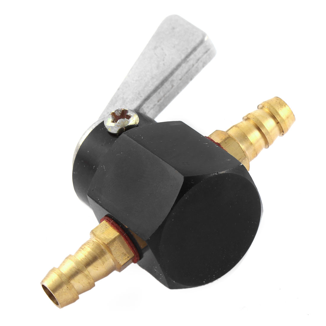 4mm Dia Black Fuel Gas Petcock Valve Switch for Motorcycle - image 1 of 3