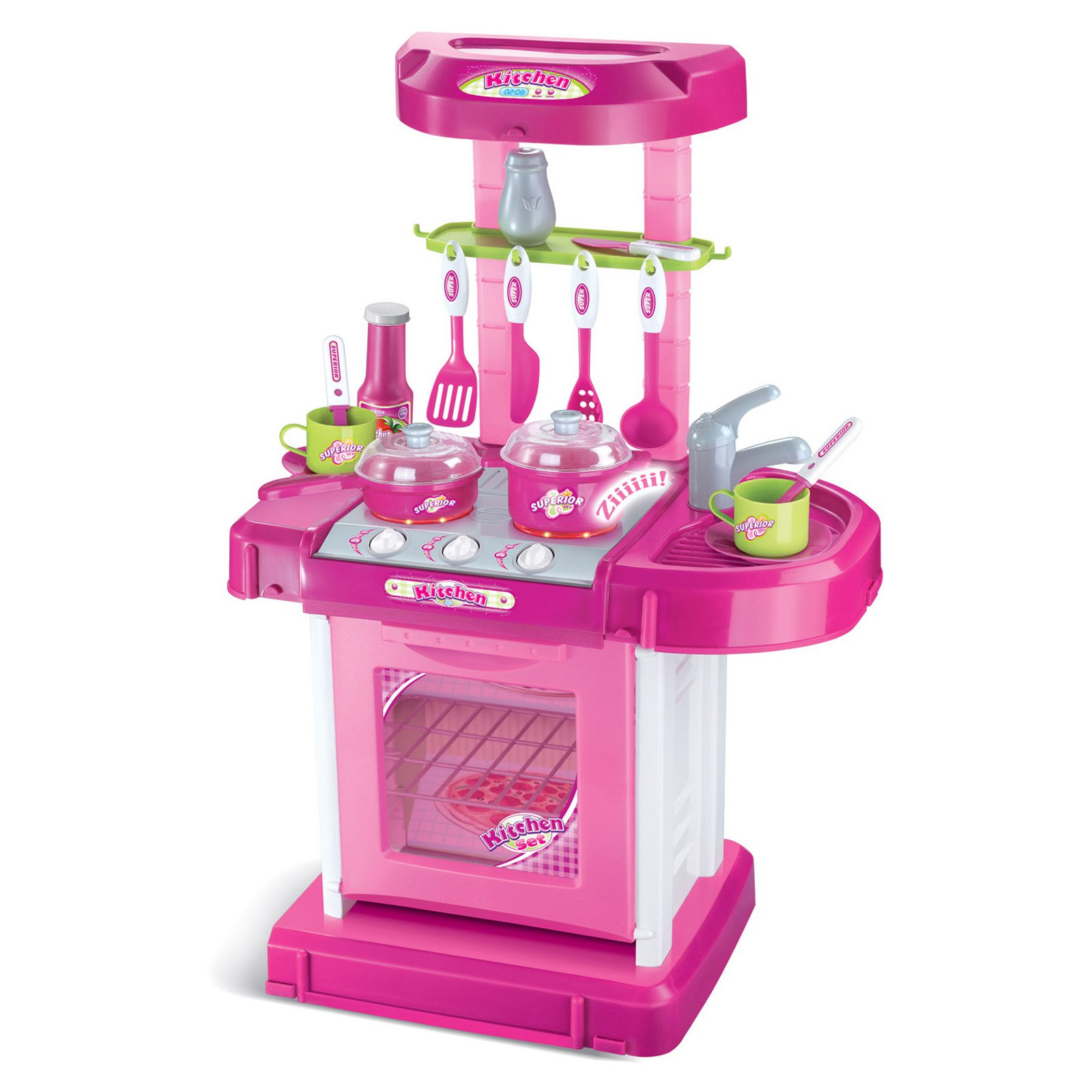 Pink Play Kitchen Set berry toys play and carry plastic play kitchen - pink - walmart