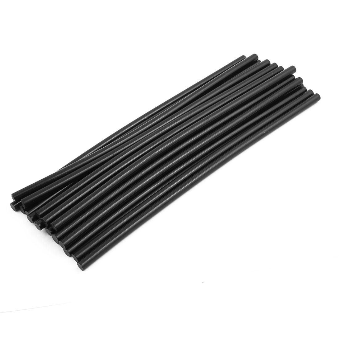 20Pcs 270mm x 7mm Hot Melt Glue Stick Black for Electric Tool Heating Glue Gun by