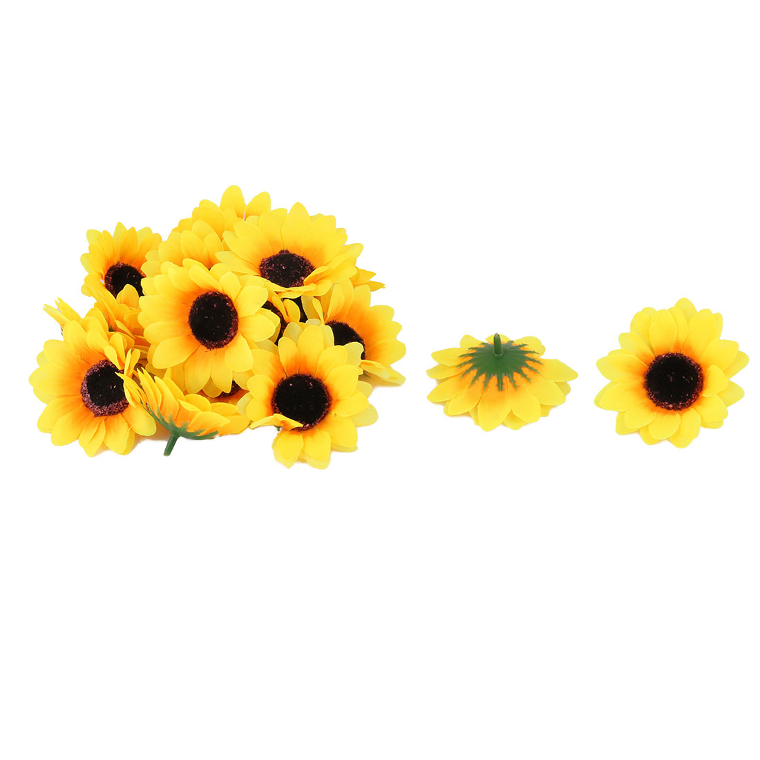 Home Garden Fabric Sunflower Applique Patches for Scrapbooking DIY Craft Making Clothes Sewing Decoration 20pcs