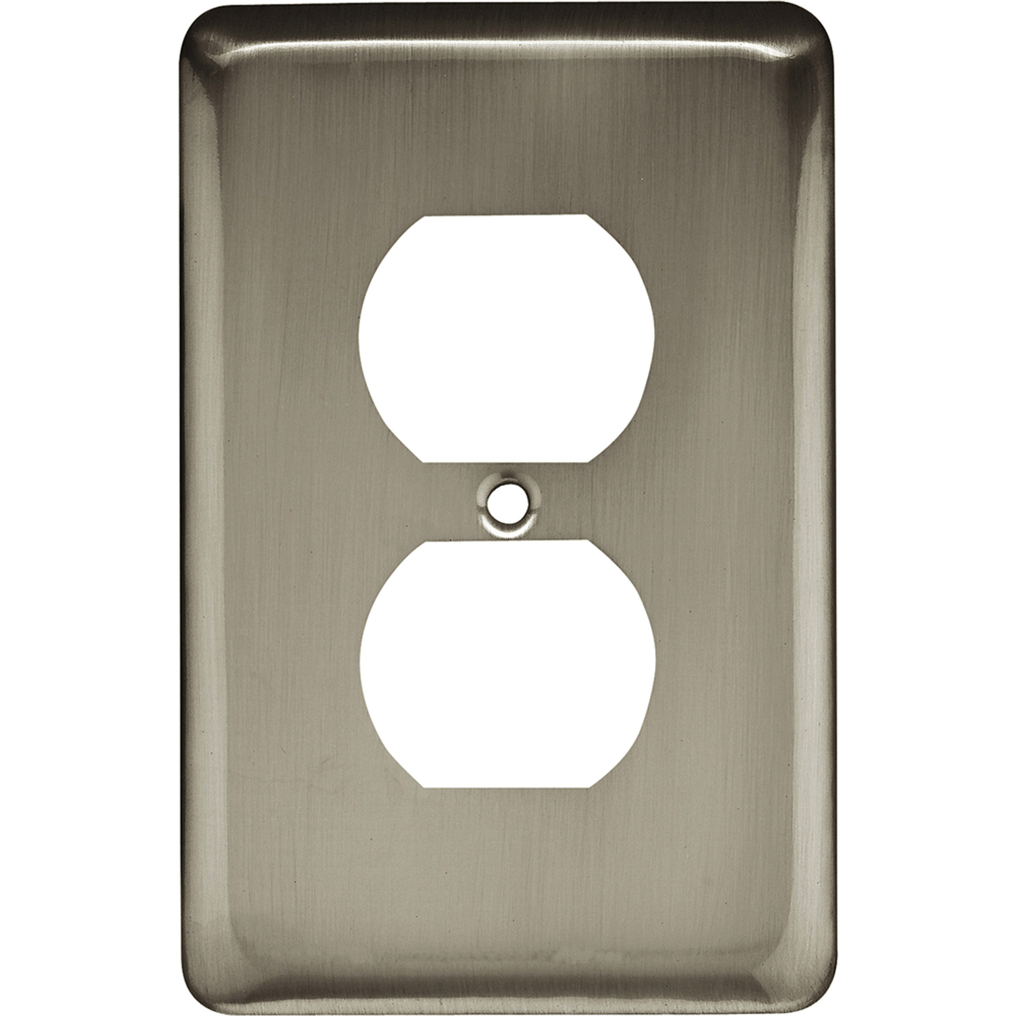 Brainerd Rounded Corner Single Duplex Wall Plate, Available in Multiple Colors by Brainerd