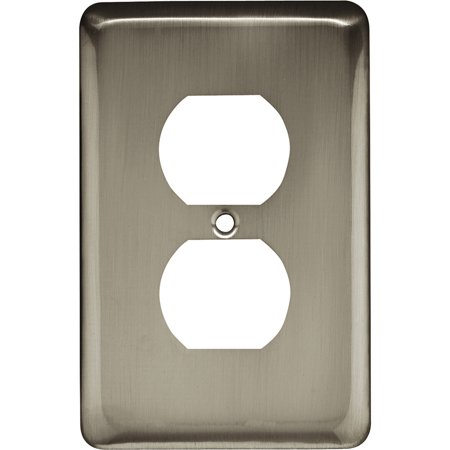Brainerd Rounded Corner Single Duplex Wall Plate, Available in Multiple Colors Duplex Out Wall Plate