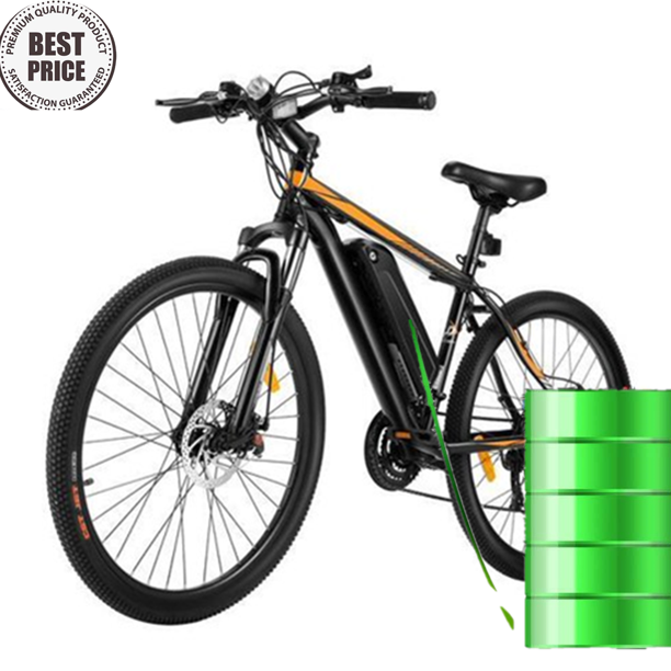 26 inch 350W Electric Bike for Adult 20MPH Ebike for Mens 21 Variable Speed Waterproof Electric Mountain Bicycle with Aluminum Frame Disc Brake with 8A 36V Lithium Ion Battery Support 400lb
