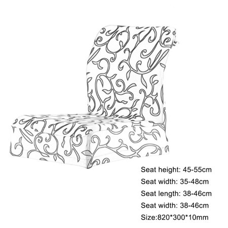 Jacquard Printed Thickening Stretch Brief Chair Cover Half Chair Covers - image 6 of 9