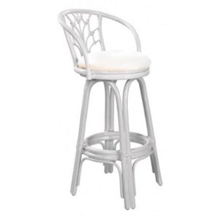 Strange Panama Jack Valencia Indoor Swivel Whitewash Finish Rattan And Wicker 30 Inch Bar Stool With Cushion Gmtry Best Dining Table And Chair Ideas Images Gmtryco