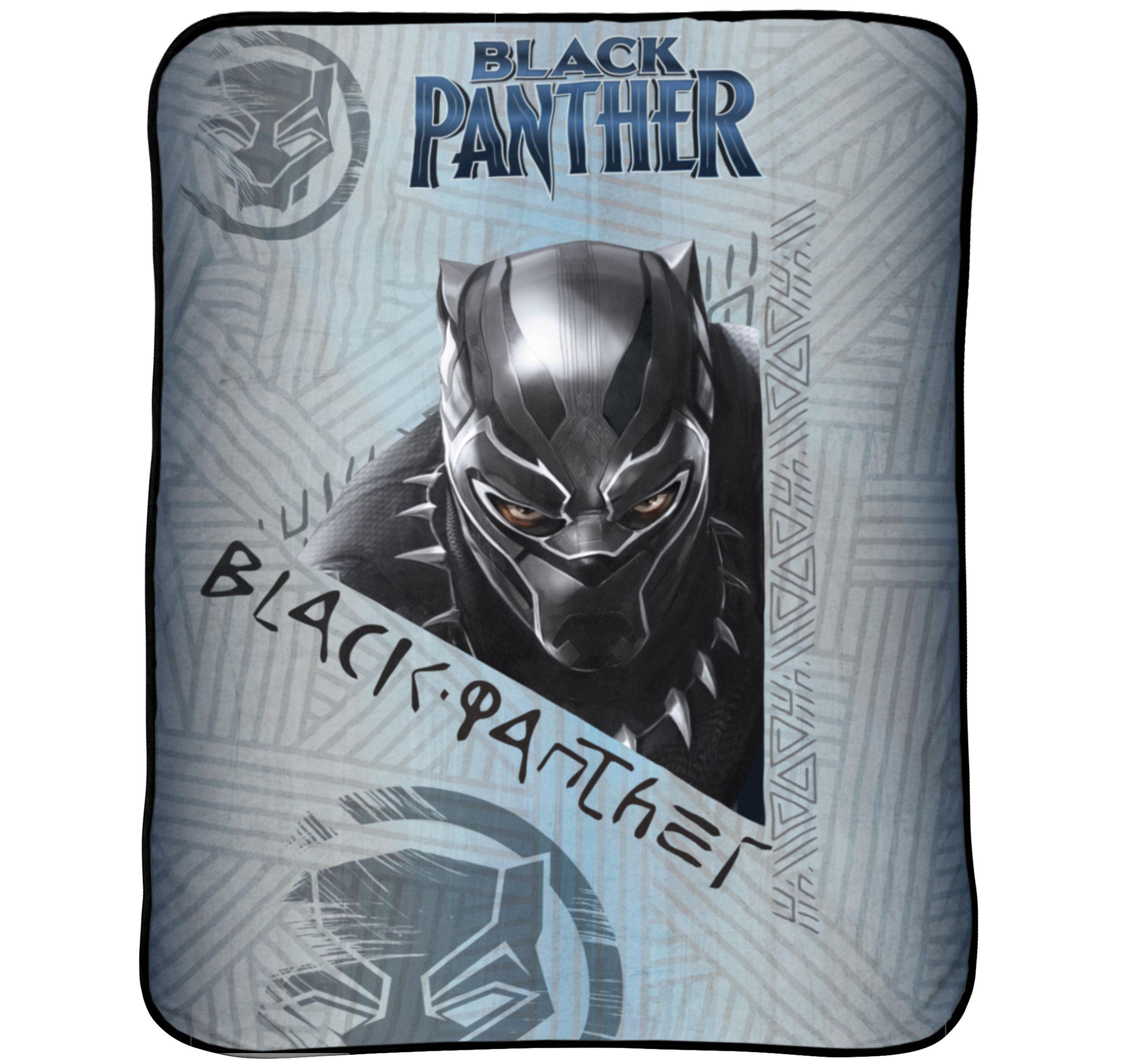 """Black Panther 46"""" x 60"""" Plush Throw, Kid's Bedding"""
