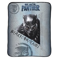 "Marvel Black Panther 46"" x 60"" Kids Bedding Plush Throw, 1 Each"