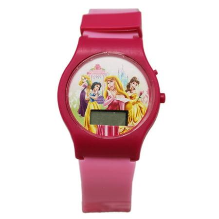 Disney Princess Dual Tone Pink Colored Band Digital Dial Kids (Dual Tone)
