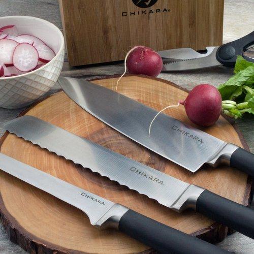 Ginsu Chikara Series 8'' Bread and Serrated Knife by Ginsu