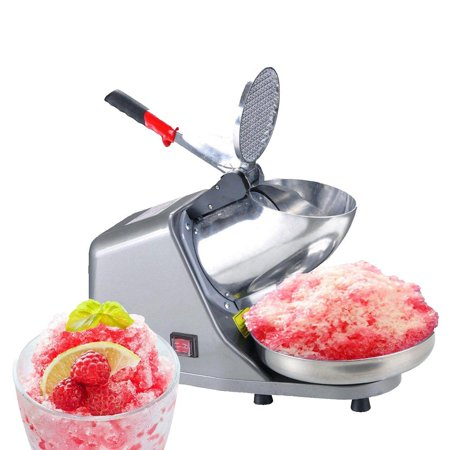 Ktaxon Electric Ice Crusher Shaver Snow Cone Maker Machine 143lbs/hr for Home Double knife