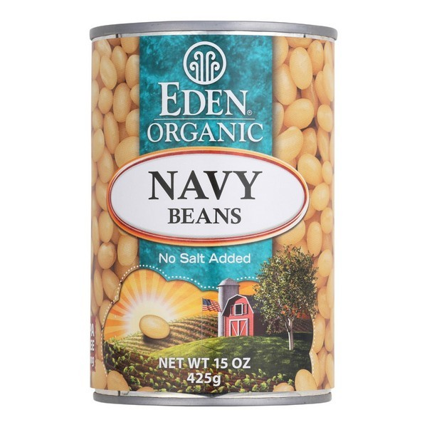 Eden Foods Navy Beans - Organic - Pack of 12 - 15 Oz.