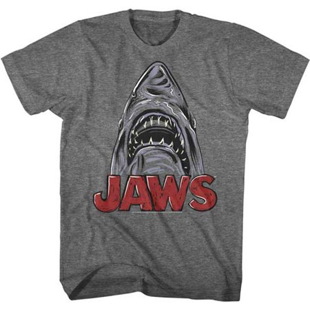 Jaws Mens  Chrome Slim Fit T Shirt Heather