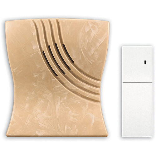 Heath Zenith Wireless Battery Operated Door Chime and Weatherproof Outdoor Chime Extender