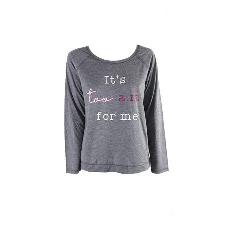 Jennifer More Grey Graphic Pajama T-Shirt (Jennifer Aniston White T Shirt)