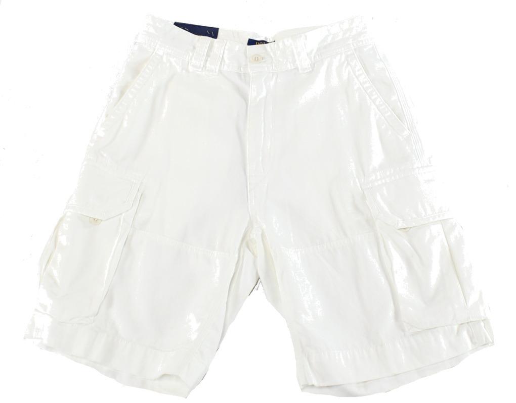 aeb71ed89a czech polo ralph lauren new white ivory mens size 32 six pocket cargo shorts  946b2 8d3b7
