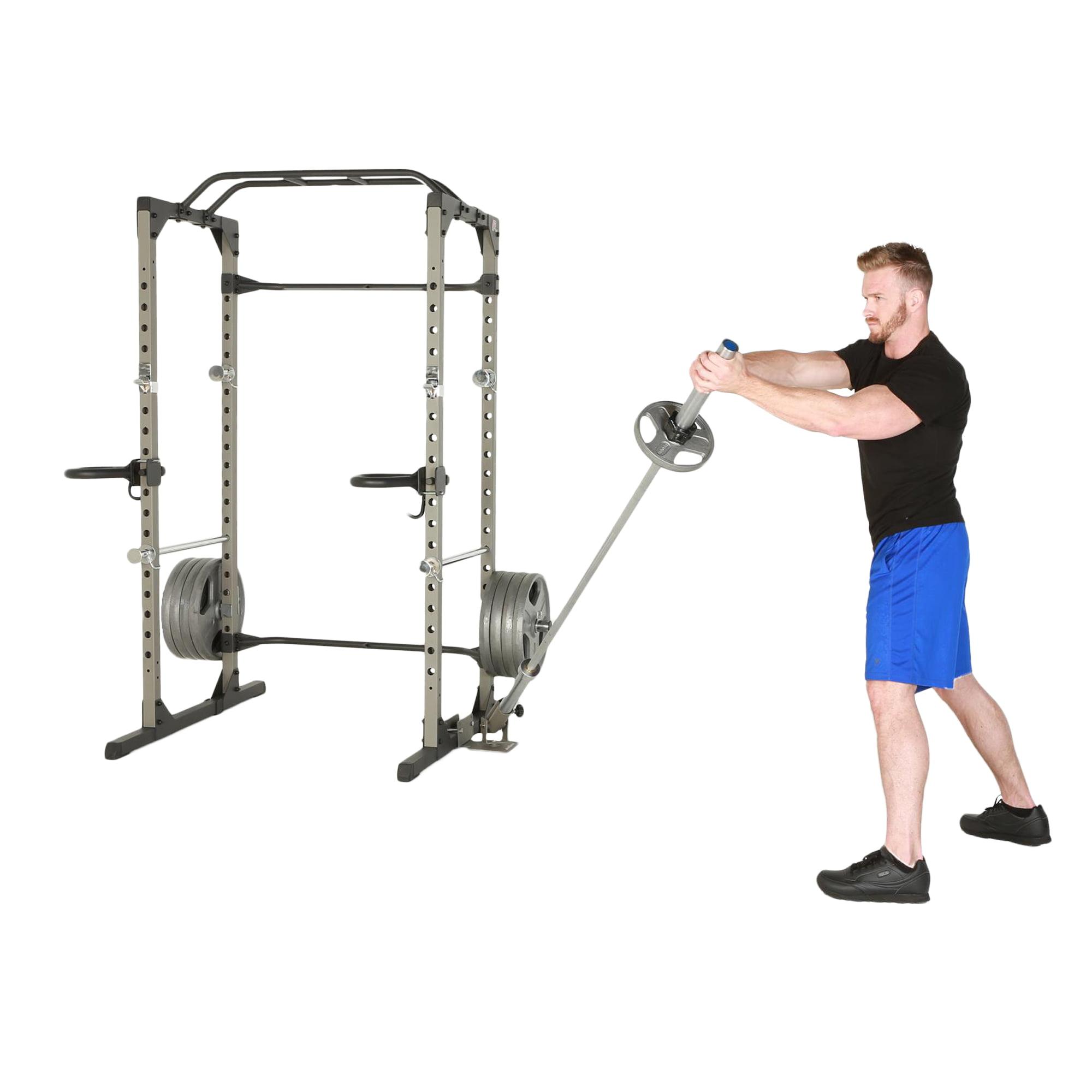 BodyRip Landmine Attachment Insert for 60mm Power Rack Black Blue Gym Exercise