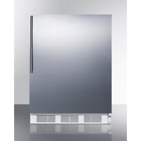 Hidden Evaporator (AccuCold ALB751SSHV 24 Wide 5.5 Cu. Ft. Built-In Undercounter All Refrigerator with Automatic Defrost  Deep Shelf Space  Hidden Evaporator and Adjustable Thermostat in Stainless)