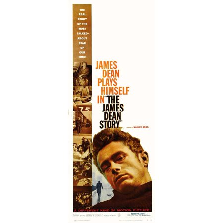 The James Dean Story Poster Movie Insert A  14X36