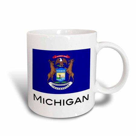 3dRose Michigan State Flag, Ceramic Mug, 11-ounce