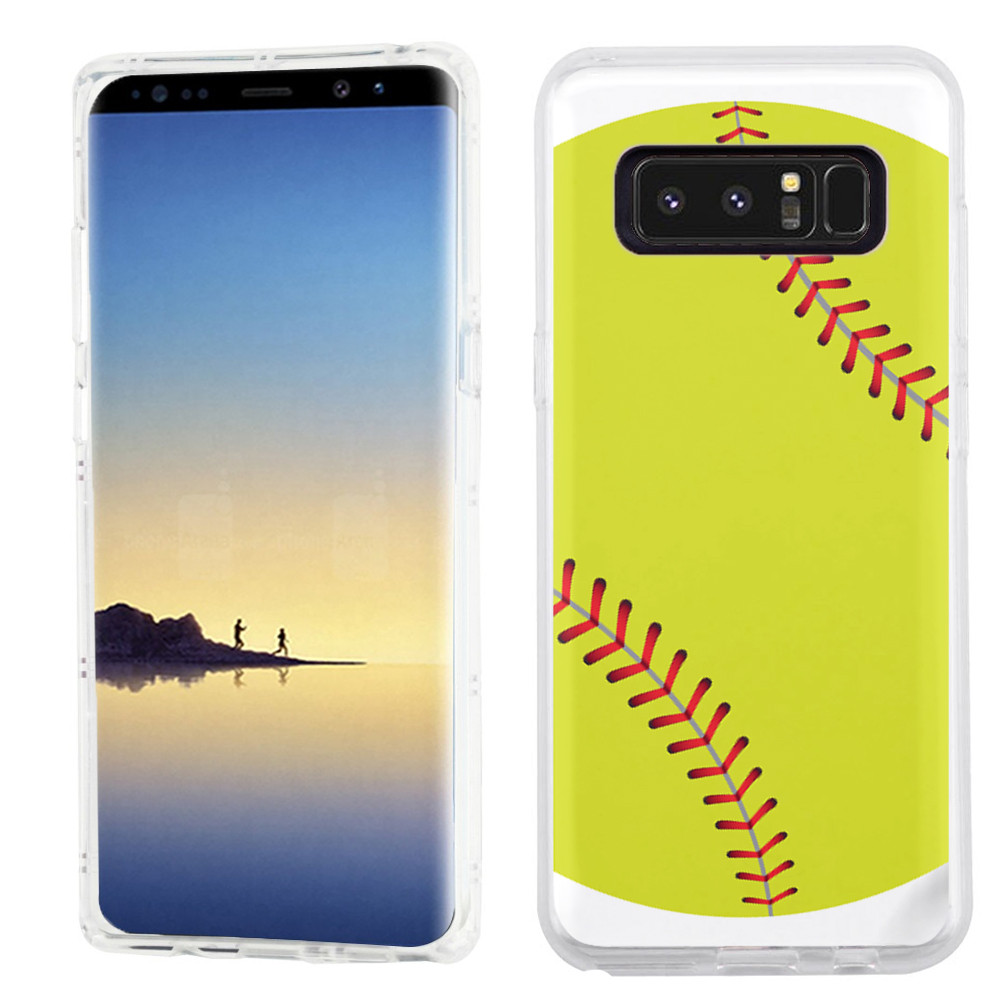 Slim-Fit case for Samsung Galaxy Note 8, OneToughShield ® TPU Gel Protector Phone Case - Softball Green