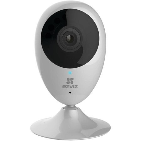 EZVIZ Mini O 720p HD Wi-Fi Home Monitoring Security Camera with 8GB SD Card (Renewed)