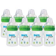 Bornfree Natural Feeding Deco Bottle - Slow Flow - 5 oz - Pack of 8