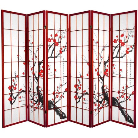 Fabulous Oriental Furniture 70 25 X 85 Bamboo Blossom 6 Panel Best Image Libraries Weasiibadanjobscom