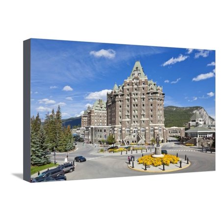 The Fairmont Banff Springs Hotel Stretched Canvas Print Wall Art By Neale Clark