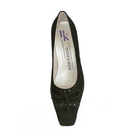 Womens Black Suede Pumps - Peter Kaiser Berla Suede High Heel Pumps Womens Shoes Black Size 5.5