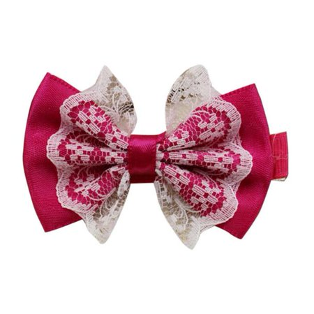 - Cute Lace Bowknot Hair Clips Baby Girl Hairpin Child Hair Accessories Hot
