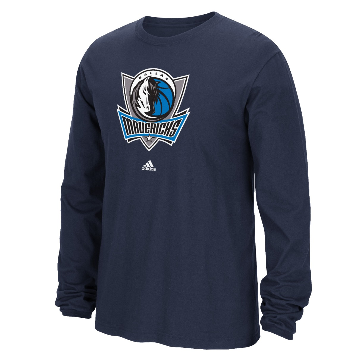 Dallas Mavericks Adidas NBA Full Primary Logo Long Sleeve T-Shirt - Blue