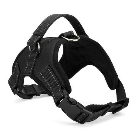 Dog Training Vest - Dog Vest Harness with Handle for Large Medium Dogs Training Walking Adjustable Black