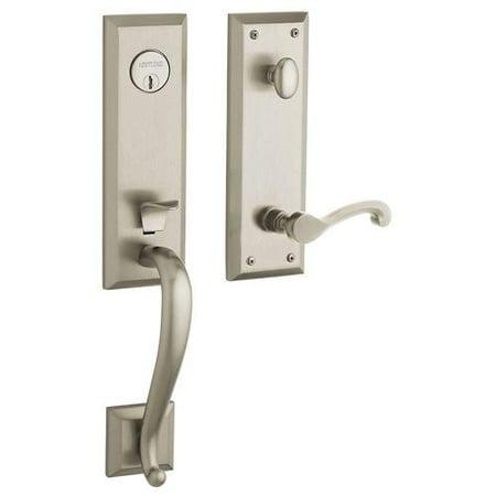 Nickel Opulence Single Handle - Baldwin 85355.150.LENT Stonegate Single Cylinder Satin Nickel Left-Handed Handle